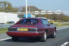 1995 Jaguar XJ-S 4.0 (NielsdeWit) Tags: nielsdewit car vehicle xn761h jaguar xjs 40 red driving a12 highway snelweg