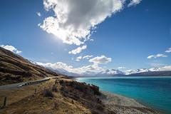 Mount Cook Road (thomasbénet) Tags: newzealand mountcook hugeroad amazingroad eos 5dmarkiii canon jucyvan roadtrip wintertrip pictureoftheyear fullframe travel paradise sunny sun lake bluewater