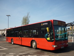 Another Saturday Suprise Cannock 20/04/19 (gardnergav) Tags: bus arriva modernbus heritagelivery midland midlandred mecedesbenz citaro onloan cannock 3006 bj12ypp