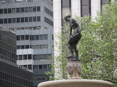 Statue of Lady on Fountain near Plaza Hotel 6510 (Brechtbug) Tags: plaza hotel statue lady fountain decor 5th avenue 58th street new york city 2019 nyc decoration holiday profile figure art architecture sunlight shadows buildings manhattan uptown midtown near central park 04202019 sunny