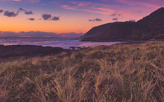 Soft Sunset (Ray Mines Photography) Tags: oregon coast cliffs beach ocean coastal coastline rocks evening sunset twilight dusk water scenic colorful beautiful scenery landscape seascape pink yellow natural vista