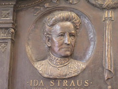 Ida Straus Memorial Plaque RMS Titanic Passengers 6461 (Brechtbug) Tags: ida isidor straus germanborn jewishamerican businessman politician coowner macys department store with his brother nathan he served member united states house representatives died wife sinking passenger ship rms titanic april 15th 1912 manhattan herald square nyc 2019 new york city