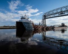 Philip R. Clarke Ship Leaving Duluth 4/20/19 #liftbridge #canalpark #duluth #shipping #lakesuperior (Sharon Mollerus) Tags: duluth mn cfptig19