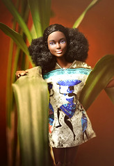 Flor De Noche (GothGeekBasterd) Tags: made move barbie black mattel afro camping fun hiker doll flowers
