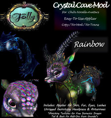 Folly_NoodleMod_CrystalCaveAdRainbow (Cane's Folly SL) Tags: cane sutter second life chibi noodle avatars texture mod crystal cave