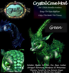 Folly_NoodleMod_CrystalCaveAdGreen (Cane's Folly SL) Tags: cane sutter second life chibi noodle avatars texture mod crystal cave