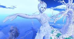 Ice Queen's Domain (Lady Lorelle) Tags: lady lorelle ice queen elemental fantasy faire 2019 giant avatar giantess 3d screenshot sl ff2019