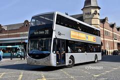 Go North East 9083, YJ65EPU. (EYBusman) Tags: go ahead north east northern general bus coach haymarket newcastle city centre tyne wear optare metrodecker demonstrator loan 9083 yj65epu eybusman