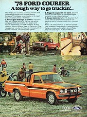 1978 Ford Courier Free Wheeling Pickup Utility Ute USA Original Magazine Advertisement (Darren Marlow) Tags: 1 7 8 9 19 78 1978 f ford m mazda c courier p pickup u utility ute car cool collectible collectors classic a automobile v vehicle j jap japan japanese 70 asian asia