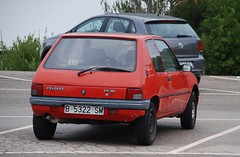 (Sam Tait) Tags: car spotting menorca spain 2013 retro old classic peugeot 205 french red 3 door hatchback