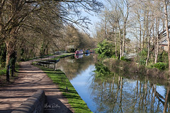 ON THE CANAL PATH (mark_rutley) Tags: city oxfordshire town urban canal oxfordcanal reflections