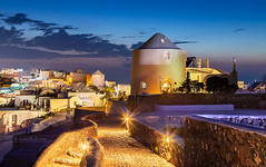 _MG_9919 - Oia streets in blue hour (AlexDROP) Tags: 2017 europe greece santorini oia greek sea travel color city urban cityscape bluehour architecture mill skyline street canon6d ef241054lis best iconic famous mustsee picturesque postcard