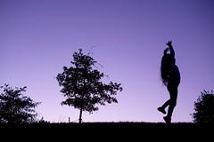 Ballerina Silly (donnierayjones) Tags: evening ballerina dance tree hill dusk silhouette kid child