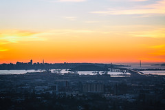 Live Like a Sunset (Thomas Hawk) Tags: america bayarea baybridge berkeley california eastbay sf sfbayarea sanfrancisco usa unitedstates unitedstatesofamerica westcoast bridge norcal sunset fav10 fav25 fav50