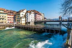 Luzern/Schweiz 21. März 2019 (karlheinz klingbeil) Tags: river suisse stadt fluss luzern switzerland schweiz city kantonluzern