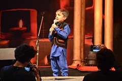 Opening Number (Pedestrian Photographer) Tags: talent competition sing singing boy singer little stage cameras pushkar mic mike microphone stand young child india indian mela fairground