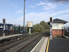 Water Tower and Signal Cabin at Ballymena Railway Station (robinparkes) Tags: thinkingabouttrains translink northernirelandrailways