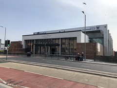 New entrance to Lanyon Place (formerly Belfast Central) Railway Station (robinparkes) Tags: thinkingabouttrains translink northernirelandrailways