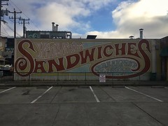 Brunch (misterbigidea) Tags: urban city morning lettering handpainted building sign oakland cityscape street downtown food cafe lunch breakfast shop sandwich
