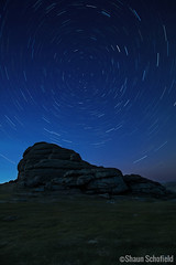 Haytor Star Trails, Dartmoor 20/04/19 (Shaun Schofield) Tags: astrophotography star startrails night sky dartmoor devon