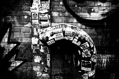 LudlowStreet (Street Witness) Tags: streetscape graffiti stickers lower east side new york city ludlow street