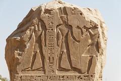 Stela of Seti I (Detail) (Chris Irie) Tags: stela setii 19thdynasty ancient egypt newkingdom amunra khnum