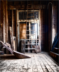 Abandoned (ronnymariano) Tags: mill 2019 equiptment abandoned barn wood ladder old beams weathered architecture farm worn door light