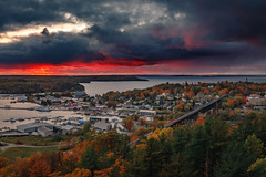 Parry Sound (Ryan J Gaynor) Tags: parrysound towerhill scenic hdr canon5dmarkiv landscape canada canadian travel explore ontario discover georgianbay fallcolours autumn northernontario sky sunset dramatic vibrant tones