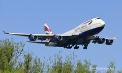 British Airways B747 ~ G-BYGD (© Freddie) Tags: londonheathrow poyle heathrow lhr egll 09l arrivals britishairways ba boeing b747 b744 gbygd fjroll ©freddie