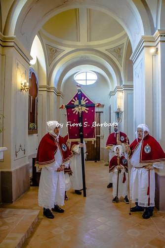 Celso di Pollica (SA), 2019. Le Confraternite del Monte Stella in visita agli Altari della Reposizione.