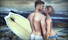 *Sorry we couldn't make it...we had a board meeting* ❤️ (Ⓐⓝⓖⓔⓛ (Angeleyes Roxley)) Tags: good vibrations surf couple bento lw poses sl secondlife