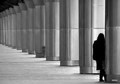 Expectation (bezkaski1) Tags: expectation railway station dnieper spring loneliness black white ukraine april lady
