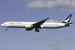 Cathay Pacific 777-300ER B-KQE at London Heathrow LHR/EGLL (dan89876) Tags: cathay pacific boeing 777 b77w 777300er bkqe london heathrow international airport 27l lhr egll