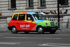 LTI TXII taxi in Just Eat livery (Ian Press Photography) Tags: london taxi cab cabs transport lti international just eat txii livery