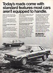 1984 Subaru Sedan & Hardtop USA Original Magazine Advertisement (Darren Marlow) Tags: 1 4 8 9 19 84 1984 s subaru sedan h hardtop c car cool collectible collectors classic a automobile v vehicle j jap japan japanese asian asia 80s