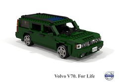 Volvo V70 T5 Estate (1997) (lego911) Tags: volvo v70 1997 t5 estate wagon sweden swedish 1990s auto car moc model miniland lego lego911 ldd render cad povray afol turbo family safety foitsop