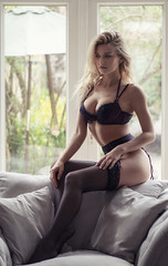 (agruszka212) Tags: beautiful female model blonde lingerie sexy stockings