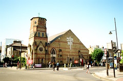 St Barnabas, Bethnal Green (Matthew Huntbach) Tags: kodakproimage100 stbarnabas church groveroad eastlondon e3 anglican