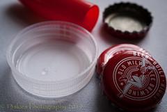 Put A Lid On It (HMM) (13skies) Tags: bottlecap beercap cap topper stopper stop lid plug hmm sonyalpha100 plastic metal macro macroscopic happymacromonday macromondays closer