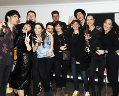 Miccoli Celebrate after playing Wembley Arena - with Debbie Googe from My Bloody Valentine (miccoliband) Tags: miccoli music band siblings official indie pop alternative wembley arena
