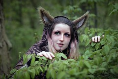Portrait from Elfia - Haarzuilens 2019 (Fables & Fairytales) (Gordon.A) Tags: elfia haarzuilens castle kasteel de haar april spring 2019 elf fantasy fair festival alternative culture subculture creative costume cosplay cosplayer cosplayphotography model lady woman face pose posed posing event eventphotography amateur naturallight colour colours color portrait portraitphotography daylight outdoor outdoors outside woods woodland tree trees depthoffield dof digital canon eos 750d sigma sigma50100mmf18dc