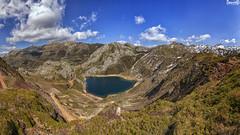 Lago de la Cueva (danielfi) Tags: lago cueva lake asturias asturies saliencia paisaje landscape montaña mountain naturaleza nature ngc somiedo pano panorámica panoramic