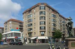 Berlin, Wilhemlstraße / Mohrenstraße (Heiko Haberle) Tags: ddr gdr ostdeutschland ostmoderne socialist plattenbau edelplatte edel platte postmoderne postmodern kacheln ornament fassade facade beton concrete