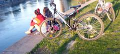 ALONG THE DANUBE CANAL IN VIENNA (artofthemystic) Tags: austria danubecanal vienna people bikes