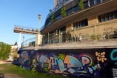 URBAN ART ALONG THE DANUBE CANAL IN VIENNA (artofthemystic) Tags: austria danubecanal vienna urbanart graffiti urania