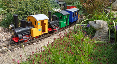 I see a double headed train (Phil_Parker) Tags: lgb railway garden g scale 45mm plants track otto ohho meerkat