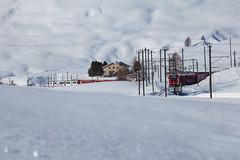 Berninapass, Oberengadin, Graubünden, Schweiz (graubuenden.bilder) Tags: berninapass winterabend unescowelterberhb rhb rhätischebahn winter süsskind kreuzung lagalb graubünden schweiz