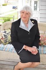 When In Doubt, Wear A Suit (Laurette Victoria) Tags: suit porch lady woman laurette easter silver necklace