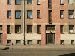 Halle (Saale) (Heiko Haberle) Tags: ddr gdr ostdeutschland ostmoderne socialist plattenbau edelplatte edel platte postmoderne postmodern kacheln fassade facade beton concrete