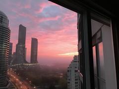 "This  morning in Toronto  - Explored (Trinimusic2008 -blessings) Tags: compassion kindness gratitude canada ontario to toronto april2019 ""viewfrommylivingroom"" colours colour sky ""judymeikle"" trinimusic2008 foggy sunrise sooc fog"